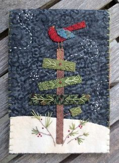 Buttonwillow Designs Wool Applique Patterns, Kits and Supplies - Felted Wool Appliqué & Projects - Wool Applique Patterns, Felt Applique, Applique Quilts, Pillow Patterns, Applique Ideas, Pillow Ideas, Quilting Patterns, Fabric Art, Fabric Crafts