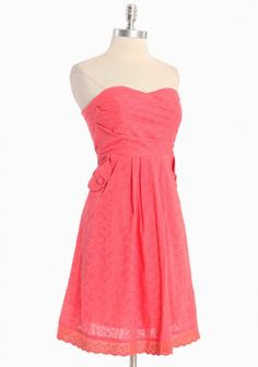 """Check out the cute pockets!  I wonder how pink this one is in real life--it is listed as """"coral"""""""