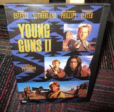 YOUNG GUNS 2 DVD MOVIE, WIDESCREEN EMILIO ESTEVEZ, BLAZE OF GLORY, EUC