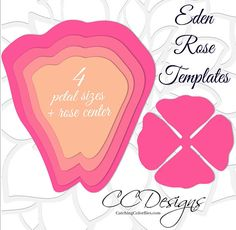 DIY Giant Paper Rose Templates. Printable template to hand cut or use with your cutting machine. (Instant Download) PLEASE READ CAREFULLY BELOW. THANKS. :) This listing includes: ♥ Eden style giant rose templates as shown with leaf and 3 vines. (hand cut or use with your cutting machine) ♥ PDF outlines for hand cutting, SVGs for cutting machines, and PNG images are included. ♥ Templates in 4 different size petals plus rose center ❤️ Full video tutorial. ♥ Basic tips on how to hang and…