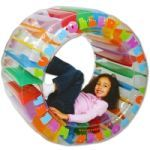 The Roller Wheel! - This inflatable kid-sized Roller Wheel has been designed with roly-poly fun in mind! Outdoor Toys, Outdoor Play, Outdoor Learning, Jacuzzi, Hamster Wheel, Garden Yard Ideas, Activity Toys, Interactive Toys, Cool Toys