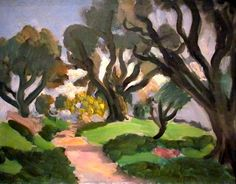 Paysage, Henri Matisse, Museum of Modern Art Henri Matisse, Matisse Kunst, Matisse Art, Matisse Paintings, Picasso Paintings, Art Paintings, Landscape Art, Landscape Paintings, Art Design