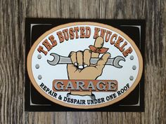 Vintage style tin metal sign // gift for him man cave fathers Day // rustic nostalgic wall art // funny garage mechanic welcome by RinTinSignCO on Etsy https://www.etsy.com/listing/266809326/vintage-style-tin-metal-sign-gift-for