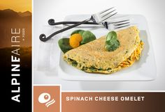 AlpineAire Spinach Cheese Omelet