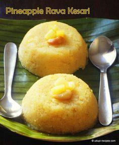 Pineapple Kesari Recipe | Pineapple Sooji Halwa - Udupi Recipes
