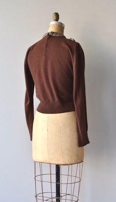 Tweed Study cashmere sweater vintage 1950s sweater от DearGolden