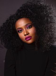 personnage / visage / photoportrait / afro / maquillage / bonjour
