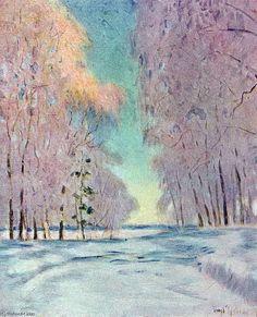 Le Frost. Coucher du soleil de Igor Emmanuilovich Grabar (1871-1960, Hungary)
