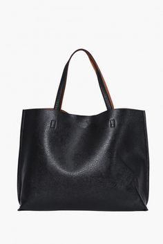 Reversible Tote in Black/ivory | Necessary Clothing