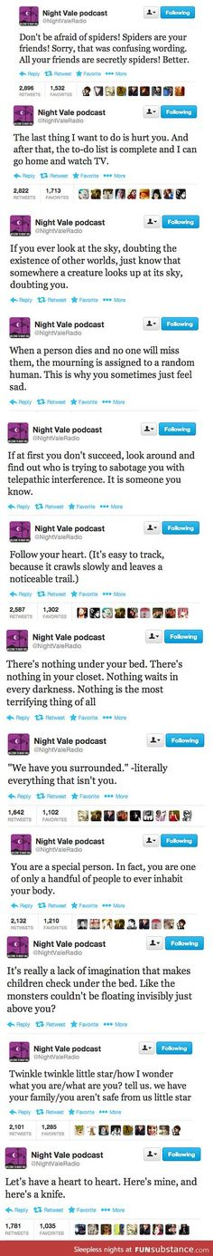 In the spirit of Halloween, Welcome to Night Vale.
