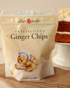 I am totally obsessed with everything from The Ginger People!  These crystalized ginger chips are the best...