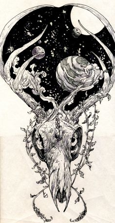 Revolting Worship — A gift drawing/tattoo design for my close friend....