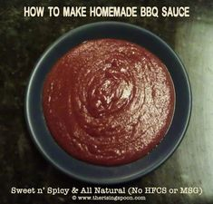The Rising Spoon: Homemade Sweet n Spicy Kansas City-Style BBQ Sauce vegan if you sub vegan butter and vegan Worcestershire (Amys is vegan)