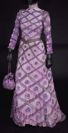 "Costume designed by Irene Sharaff for Barbra Streisand in ""Hello Dolly"" (1969)."