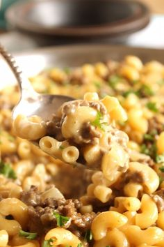 "This easy, one-pot dinner is a copy of the popular Hamburger Helper version. Cheeseburger Macaroni Skillet uses ""from scratch"" ingredients to recreate this classic comfort dish in minutes. Flavorful and..."