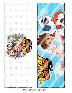 Yokai Watch Pringles Wrappers and Lid Label, Printable, DIY