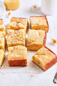 The lightest and fluffiest Meyer lemon coffee cake, baked to golden and buttery perfection with a fine crumb and ribbons of homemade Meyer lemon curd! Baking Recipes, Cookie Recipes, Dessert Recipes, Lemon Recipes, Brunch Recipes, Diet Recipes, Breakfast Recipes, Fat Bombs, Hazelnut Cake