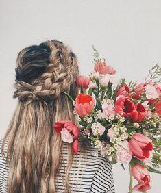 Dutch crown braid hairstyle