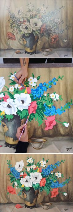 DIY Paint By Numbers Thrift Store Art Paint By Numbers, Paint By Number Diy, Paint By Number Vintage, Thrift Store Decorating, Thrift Store Crafts, Thrift Stores, Thrift Store Finds, Yard Sales, Diy Wall Art