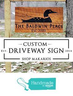 House sign, address sign, driveway sign, yard sign, house number sign, address plaque, house address sign, home sign, house yard sign, house driveway sign from Makarios Decor http://www.amazon.com/dp/B01DRIT87M/ref=hnd_sw_r_pi_dp_FqMixb15TZRHV #handmadeatamazon