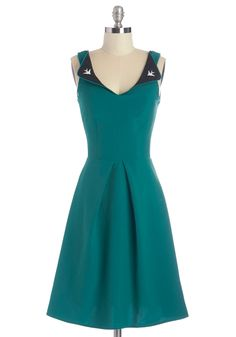 A Lovely Pair Dress. A beautiful friendship blooms when you and this teal dress meet, creating the loveliest duo around. #green #modcloth