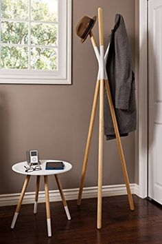 Styx Coat Stand in White House Design Pictures, Coat Stands, Cute Home Decor, Home Room Design, Wooden Art, White Wood, Home Projects, Furniture Design, Interior