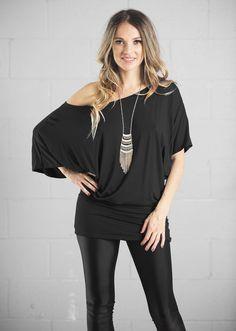 Batdress Gisele, Tunic Tops, V Neck, Design, Women, Fashion, Dish, Moda, Women's