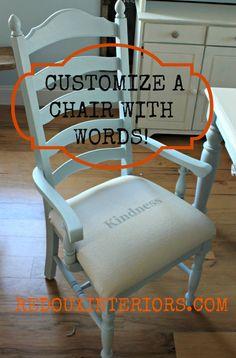 Customized Dining Chair Redouxinteriors
