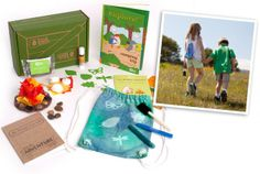 """June 2014 Kiwi Crate """"Camping Trip!"""" Make your own flickering campfire and a sunprint backpack! #kiwicrate #summeradventureseries #coupon @Kiwi Crate"""