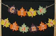 Give Thanks Banner Thanksgiving Decoration by BecraftyStamps #FallBanner #GiveThanks