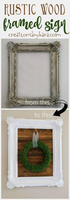 DIY Rustic wood framed sign, farmhouse