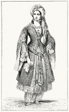 Turkish women's dress, 19th c.