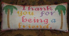 Golden Girls Miami Needlepoint Decorative Pillow, $20.00