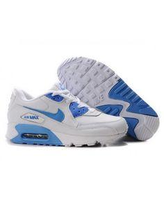 sports shoes 3d1db b2aa7 Womens Nike Air Max 90 Blue White 6809331-483 Nike Air Max Jordan, Jordan