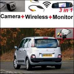 69.97$  Watch now - http://alityg.worldwells.pw/go.php?t=32394956300 - 3 in1 Special Rear View Camera + Wireless Receiver + Mirror Monitor Back Up Parking System For Citroen C3 Picasso