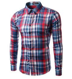 YUNY Men Slim Casual Thermal Button Down Shirt 6 L