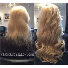 Before And After / 150G Of Fusion Hair Extensions #longhair #hairextensions #fusionextensions #tapeextensions #remycuticlehair #extensions #hair #blonde #platinum #beautiful #curls #volume #headcandy #queenwest #queenstreetwest #headcandystudio #salon #torontosalon #toronto