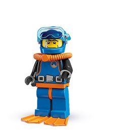 "Deep Sea Diver -- ""Blub blurb glub?"" | LEGO® minifigures | Series 1"