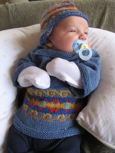 Baby sweater by Alice Starmore