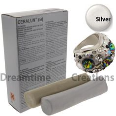 Ceralun Two Part Epoxy Clay by SWAROVSKI 9030/296 Silver 20 Gram Package