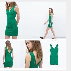 Zara zipper dress Sexy dress with gold zipper on back never worn , just without tags , great fit Zara Dresses Mini