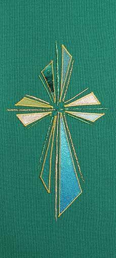 Green stole design abstract cross II