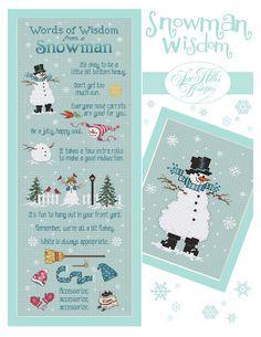 Sue Hillis Designs: Snowman Wisdom | Cross Stitch Pattern