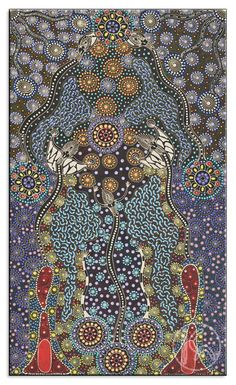 Dreamtime Sisters by Colleen Wallace Nungari from Utopia, Central Australia created a 71 x 122 cm Acrylic on Belgian Linen painting SOLD at the Aboriginal Art Store Native Art, Australian Artists, Aboriginal Art, Folk Art, Dot Painting, Tribal Art, Australian Art, Painting, Art
