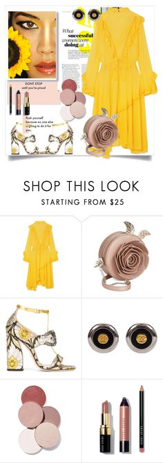 """Sun blush"" by eledonoghue ❤ liked on Polyvore featuring Preen, Danielle Nicole, Gucci, LunatiCK Cosmetic Labs and Bobbi Brown Cosmetics"