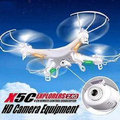 X5C-1 2.4GHz Mini RC Quad-copter Drone with camera Live Aerial