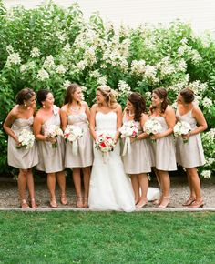 Summer Wedding at The Garrison by, Lindsay Madden Photography | Flowers by, Steven Bruce Design | Bridesmaids in Jenny Yoo | Bride in Augusta Jones