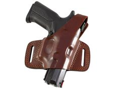 This compact belt slide holster is designed for the OWB carry. It is made of premium leather, hand molded directly on the gun for the perfect holster fit. Designed for a high ride carry. The holster contains two belt slots for closer ride and comfortable carry. The holster features a steel-reinforced thumb break to provide an additional security of the gun. Open muzzle design enables to carry the same gun model in different barrel lengths. It is available in right and left-handed design and…