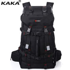 KAKA Fashion Super Capacity Men Women Backpack Brand 60L Lock Mountaineering Bagpack Water-proof Durable Travel Rucksack A035  Price: 67.85 & FREE Shipping  #hashtag4