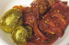 Slow Roast Tomatoes  recipe at www.fork-lore.com